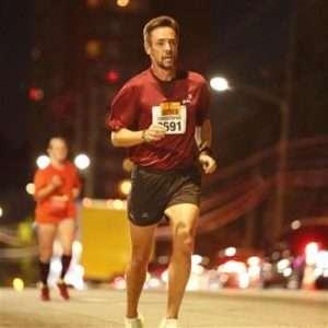 Christophe mid-marathon